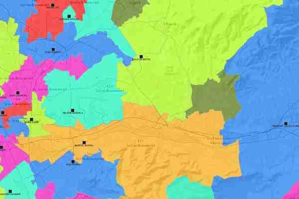 carte interactive des lycée de secteur de Marseille