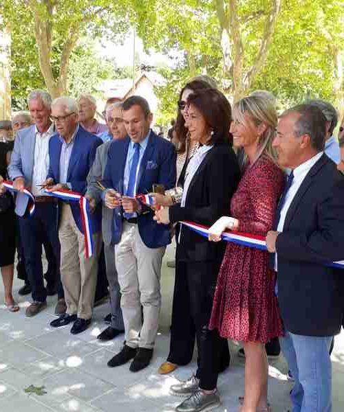 inauguration place auffan eoures P. Lollioz, J. Montagnac, D. D'andrea, J.Ravier, V. Boyer, M. Vassal, G. Audibert