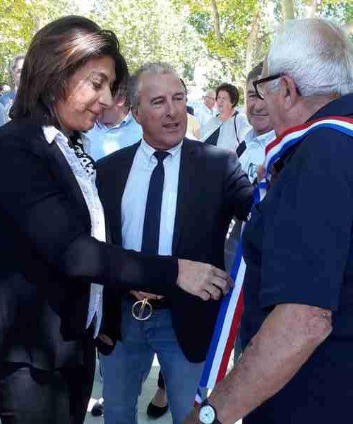 inauguration place auffan eoures - M. Vassal, G. Audibert, C. Sibille